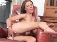 Tight babe lucy heart is alone and masturbating her cunt videos