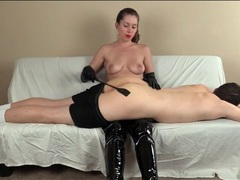 Spanking and hairbrush paddling from his mistress videos
