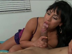 Big cock sucked slowly and sensually by a milf videos