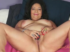 Sexy old latina is chatty as she masturbates movies at sgirls.net