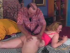 Milf and her man into fingering and hot sucking movies at lingerie-mania.com
