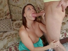 Big cock blown with passion by a busty cutie videos