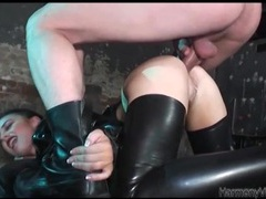 Latex slut pounded in the ass and taking a big load movies at nastyadult.info