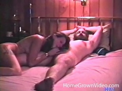 Dude with a big beard blown in a vintage porn videos