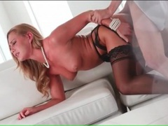 Great doggystyle fuck of a babe in black stockings videos