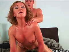 Tight milf and her young lover have sweaty sex movies at sgirls.net