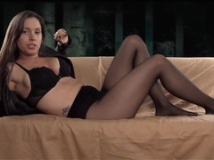 Mistress in pantyhose humiliates you verbally movies at find-best-lesbians.com