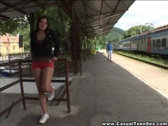 Casual teen sex - train station hookup tubes