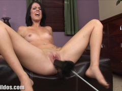 Clara is demolished by a big brutal dildo machine videos