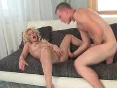 Mom with lots of blonde hair sucks and fucks videos