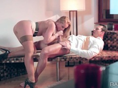 Hot blonde milf makes cock riding look glorious videos