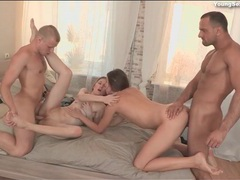 Lithe nude beauties fucked in a great foursome movies at sgirls.net