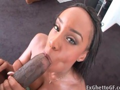 Stunningly hot black girl sandi jackmon sucks a dick videos