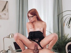 Sectretary keeps her panties on and rides his dick movies at find-best-lingerie.com