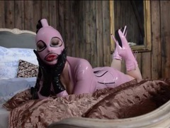 Kinky fetish model latex lucy in pink movies
