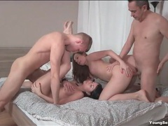 Teen cocksuckers fucked by their hard dick men videos