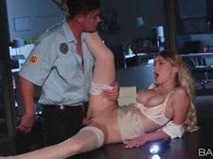 Security guard fucks gorgeous pornstar natalia starr movies at lingerie-mania.com