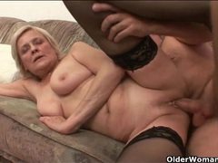 Shaved granny pussy milks his hard dick movies at reflexxx.net