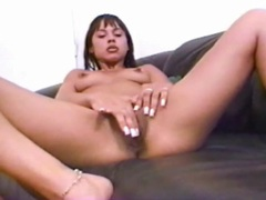 Sweetheart with long fingernails fucks a dildo videos