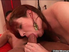 Pretty mature redhead sucks dick and gets laid videos