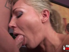 Milf can take a dick deep in her throat videos