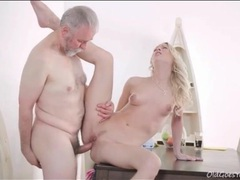 Slippery young cunt fucked by hard grandpa cock movies at adspics.com