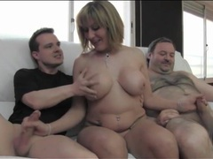Milf gives her hot body to two guys to use movies at adspics.com