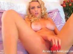 Blonde perfection with amazing tits toys her box movies at sgirls.net