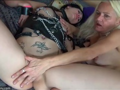 Kinky young hottie masturbates with granny movies at freekilomovies.com