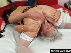 Furry gran licks hot mamma in lesbian action movies at find-best-babes.com