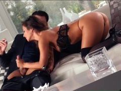 He seduces sexy eva lovia and she gives a bj videos