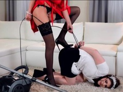 Mistress punishes the maid for doing a bad job videos