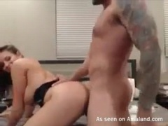 Banging doggystyle with his amazingly hot girl movies at freekiloporn.com