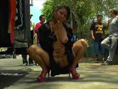 Chubby latina babe beatriz flashing pussy tubes