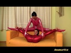 Shiny flexi lesbian sex gymnastic videos