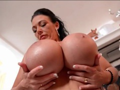 French maid delzangel has huge fake breasts videos