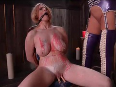 Hot wax dripped on the body of a busty sub girl movies at find-best-pussy.com