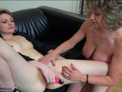 Tasty young lady masturbates as granny rubs her clit movies at kilotop.com