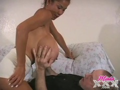 Old guy gets to suck those gigantic tits tubes at asian.sgirls.net