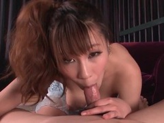 Titjob excites him to get his dick sucked tubes at japanese.sgirls.net