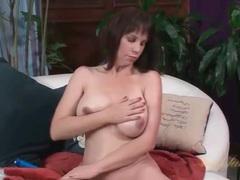 Mom sensually rubs lotion into her big tits videos