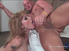 Facial and cum in mouth compilation with trannies tubes