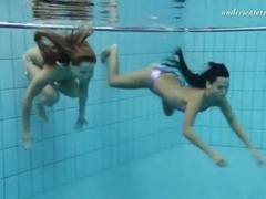 Girls tear off their bikinis underwater movies