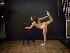 Ballerina does her warm ups and stretches naked movies