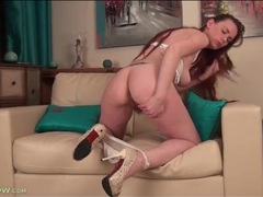 Redheaded seductress has a sexy bush movies at relaxxx.net