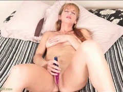 Mom finds joy with a vibrating dildo movies at find-best-hardcore.com