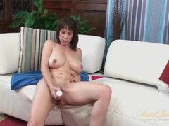 Lubed and horny mom with a big dildo videos