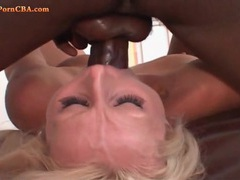Black dick fills her lusty milf mouth movies at kilosex.com