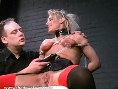 Blonde slave crystels kinky electro bdsm movies at kilotop.com