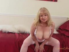 Cute british mature babe in a sexy striptease videos